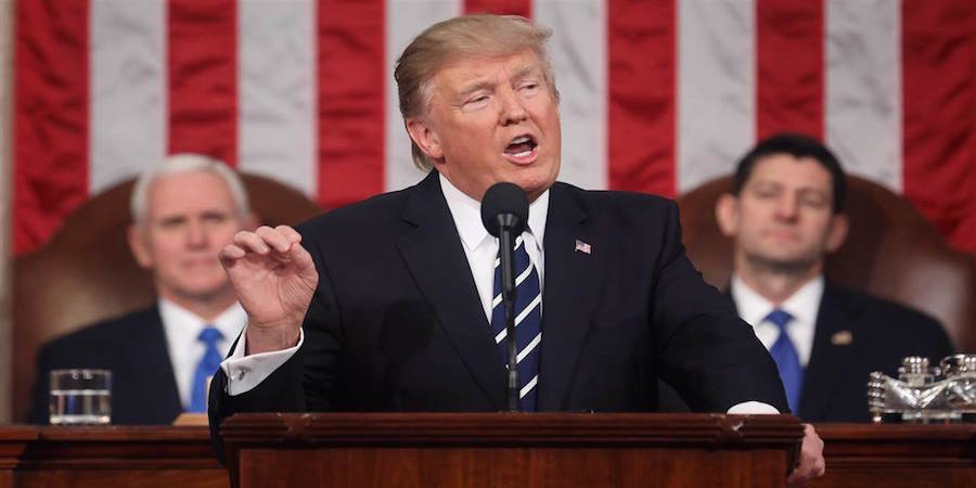 Whoppers Big and Small in Trump's Speech